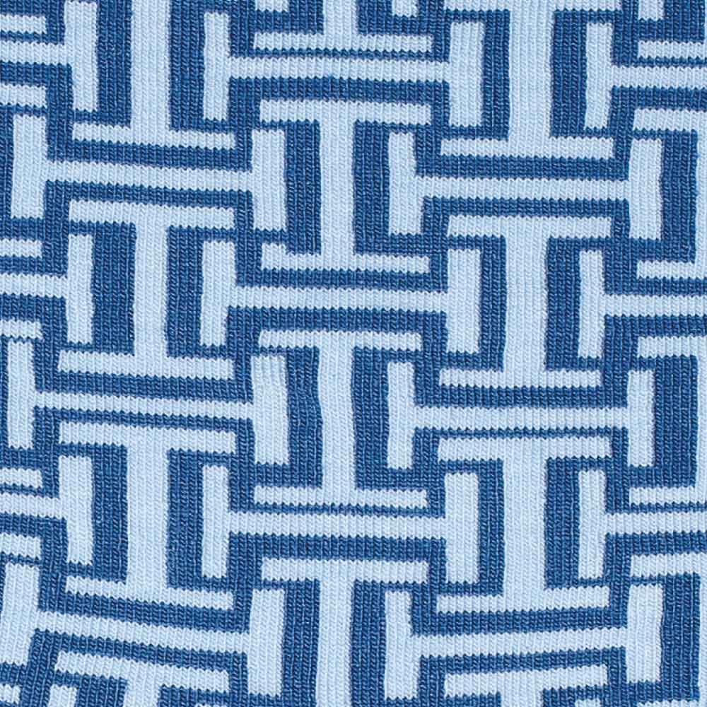 Blue Maze socks detail