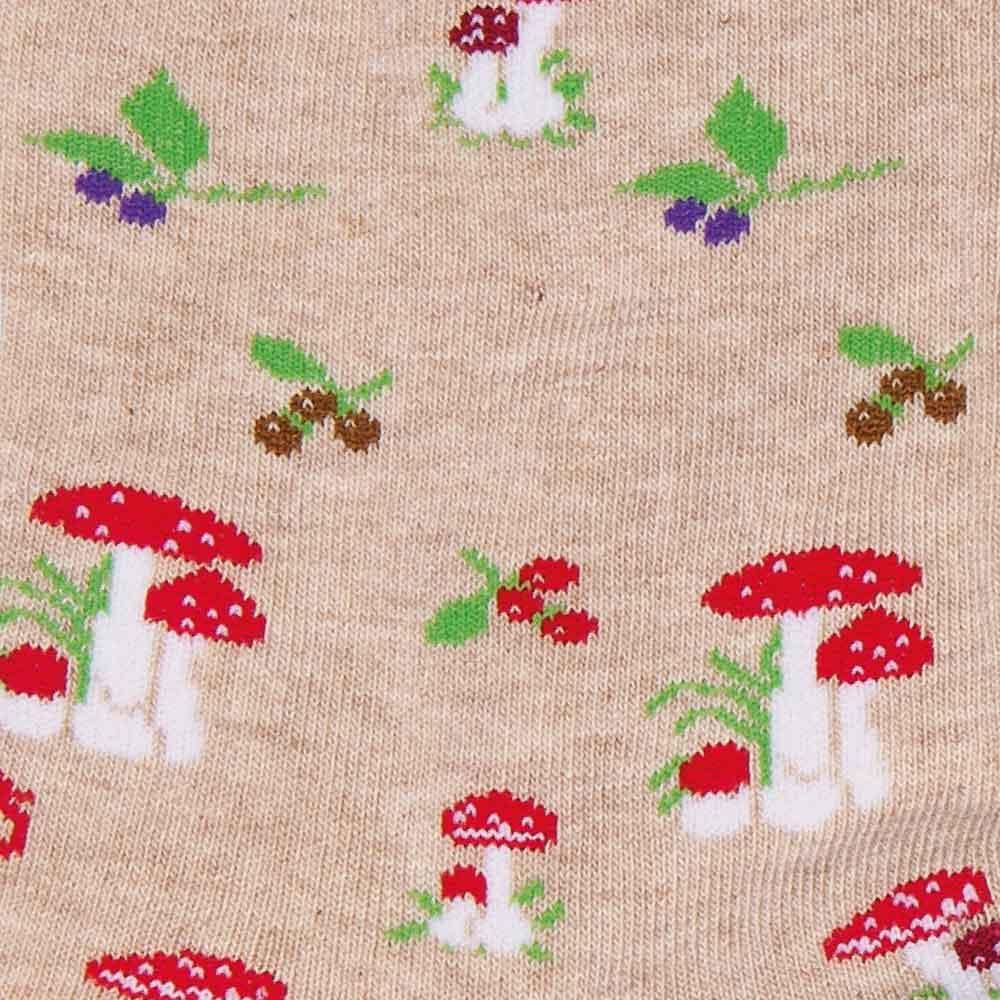 Mushrooms socks detail