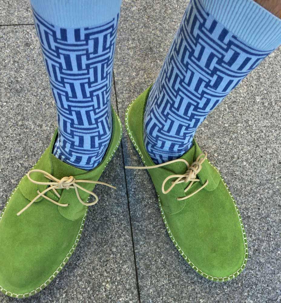 Blue Maze socks men