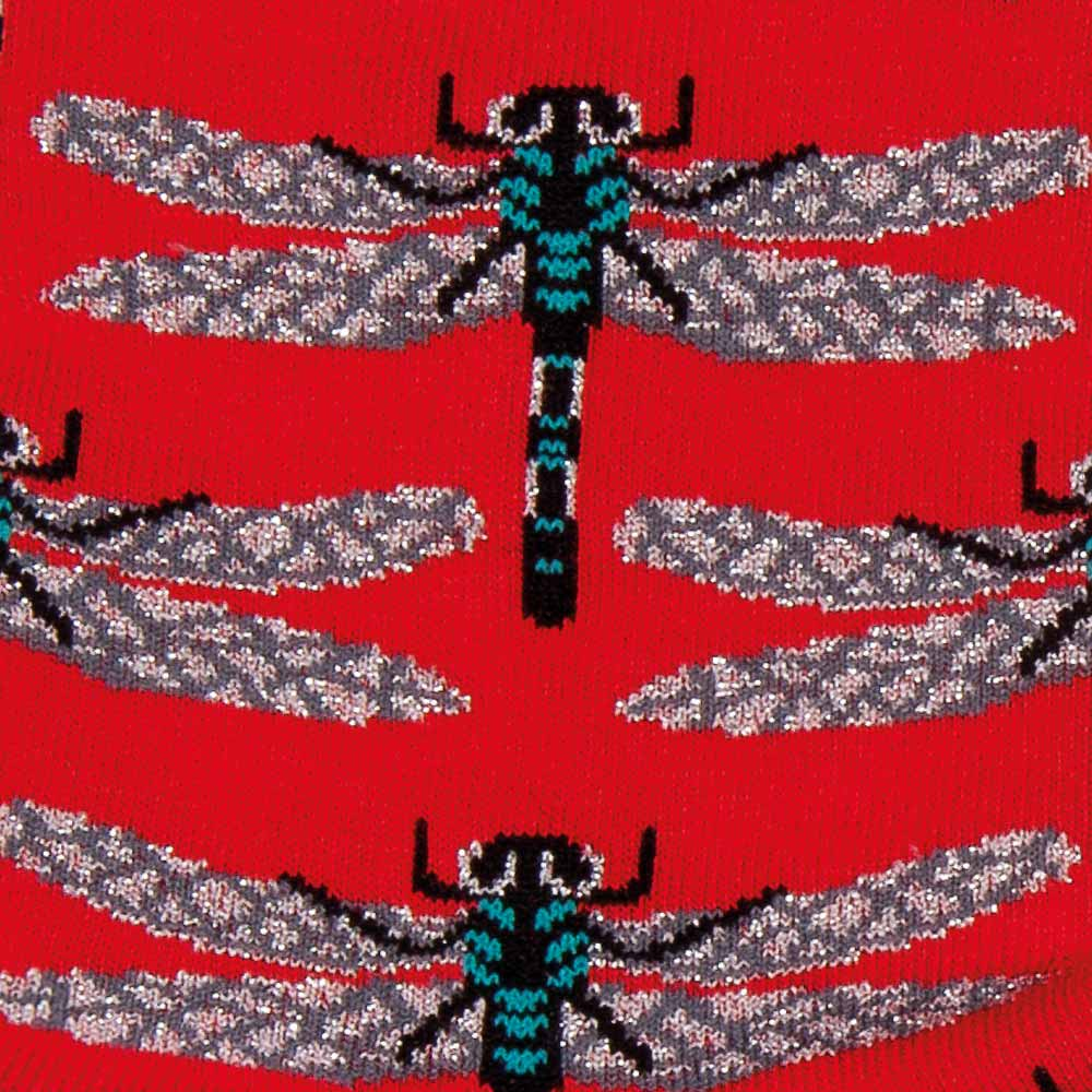 Dragonflies Socks with Lurex detail