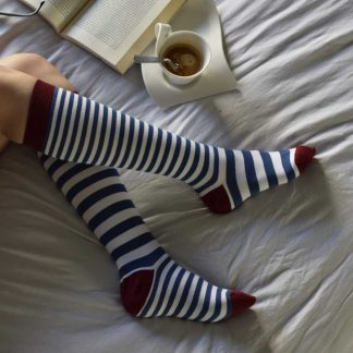 Knee-High Marine Horizontal Stripes socks