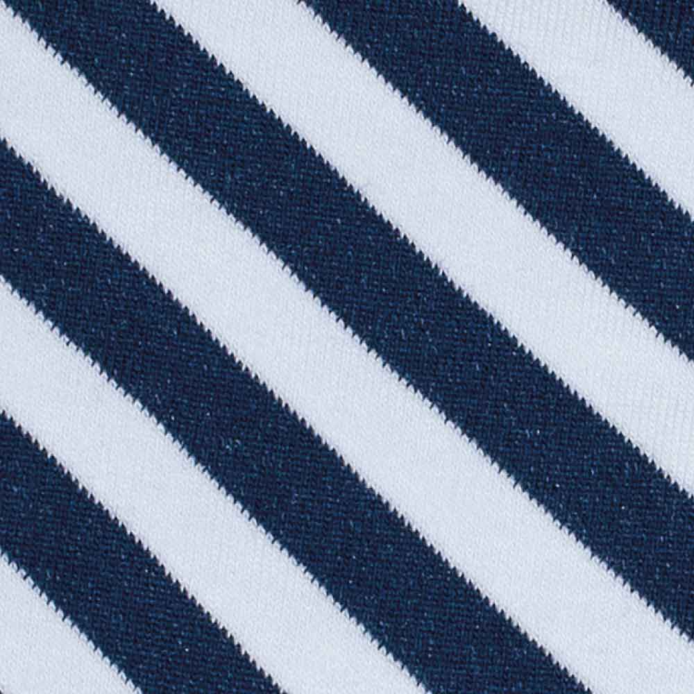 Marine Diagonal Stripes Long Socks detail