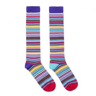 calcetines rayas multicolor silueta