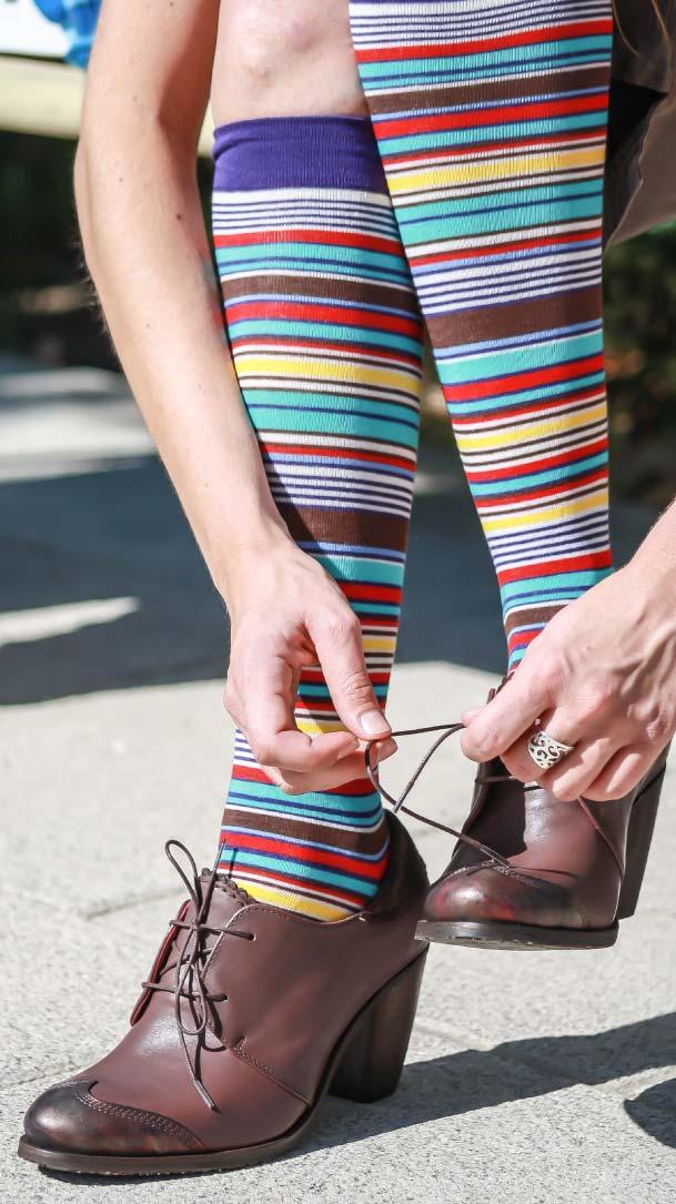 Calcetines multiraya mujer
