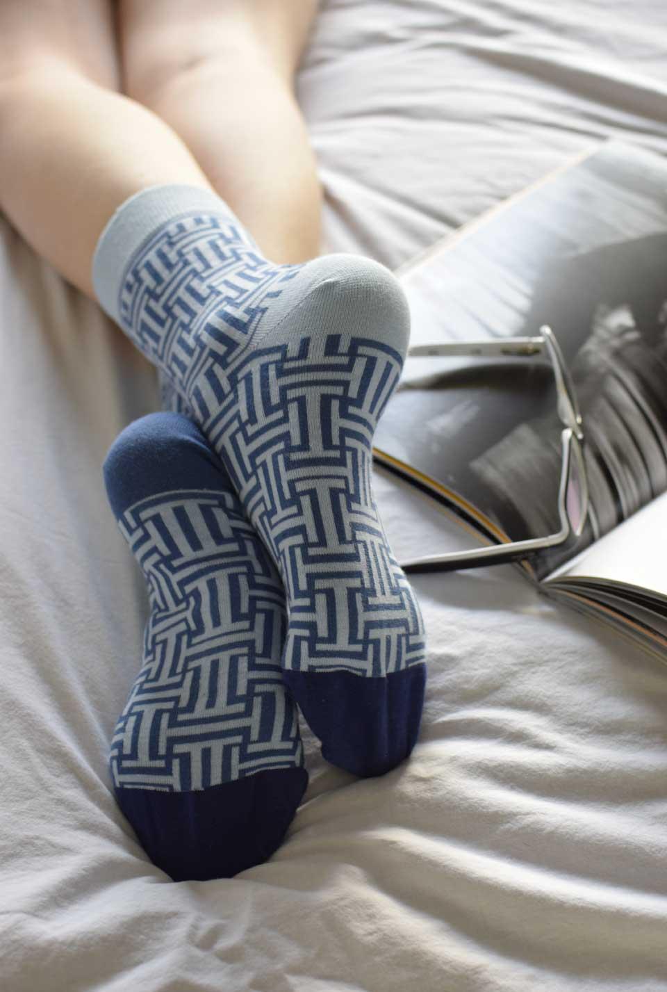 Blue Maze socks women