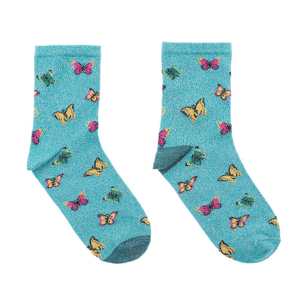 blue butterflies glitter