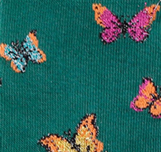 Mariposas-verdes-brillantes-detalle
