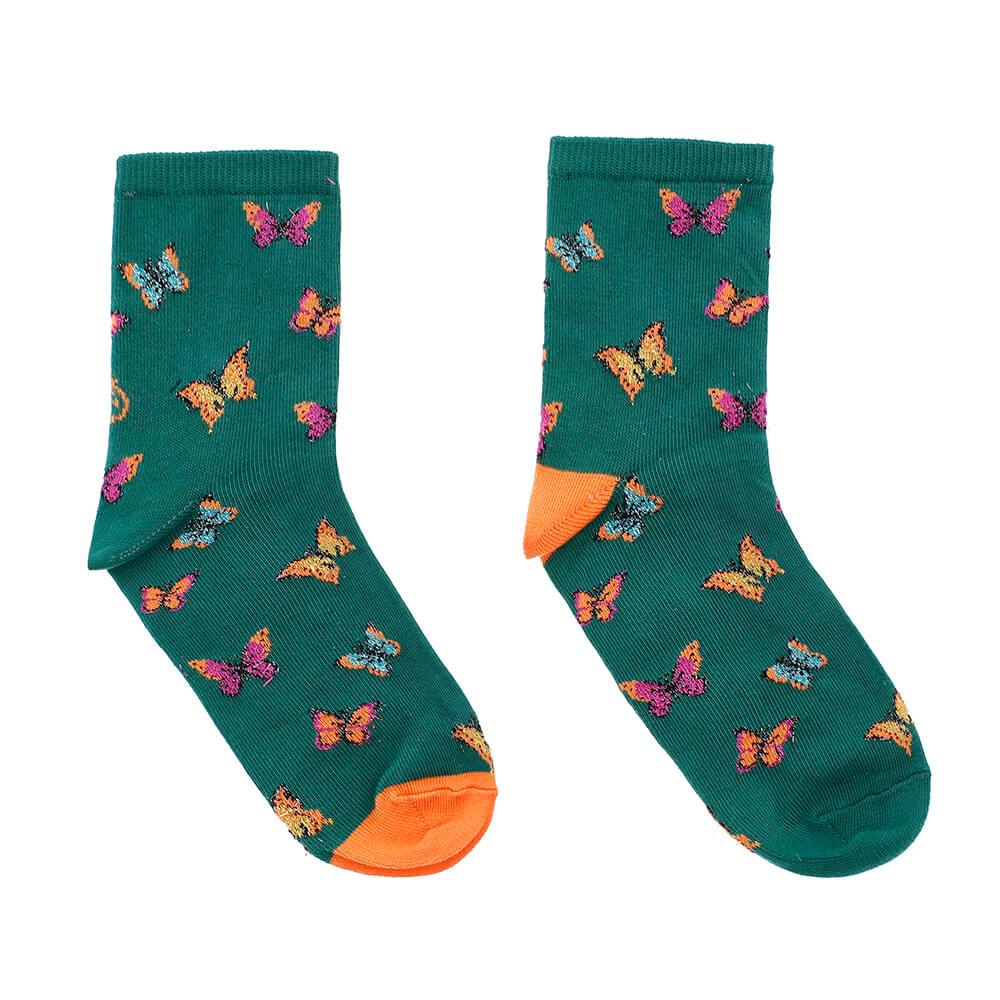 Mariposas-verdes-brillantes-silueta