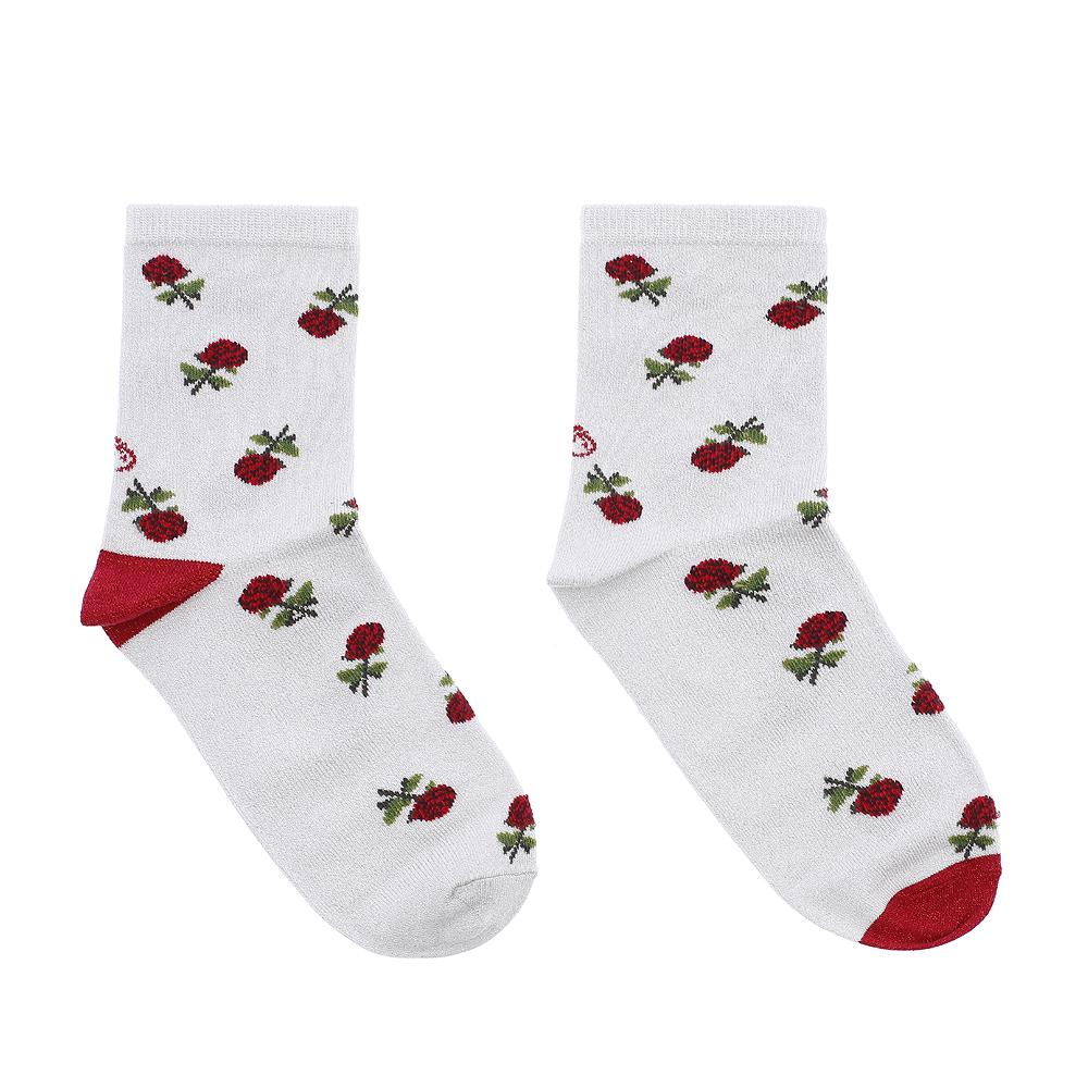 calcetines rosas rojas brillo