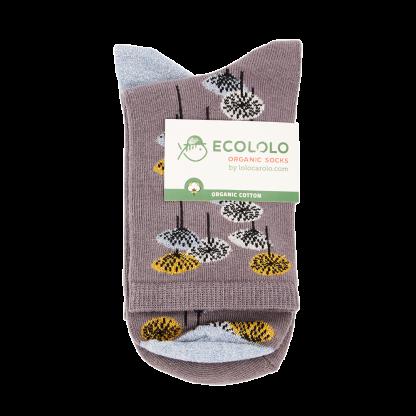 calcetines amapolas grises