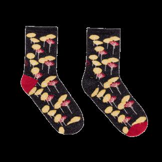 calcetines amapolas negras