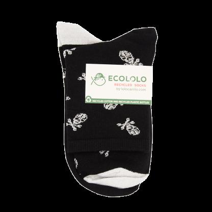 calcetines calaveras negras