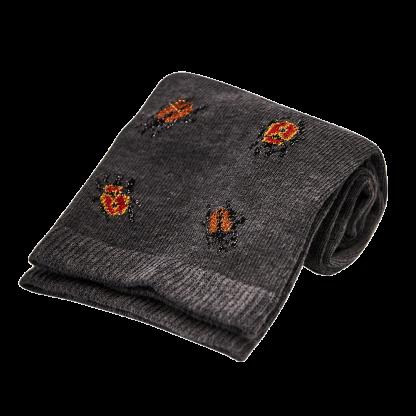 calcetines escarabajos grises
