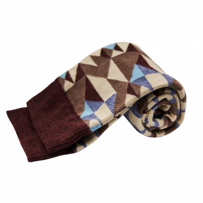 calcetines geometrico azul