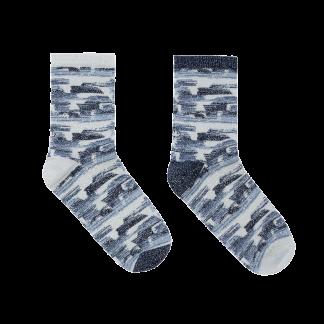 calcetines pinceladas azules