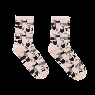 calcetines polos dorados