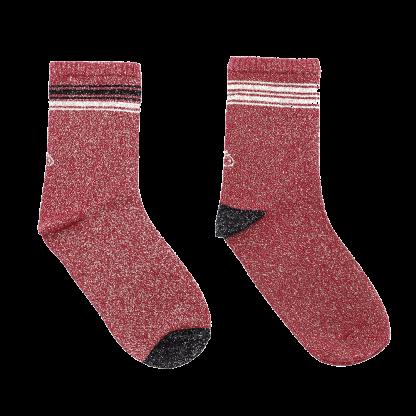 calcetines rojo chic brillo